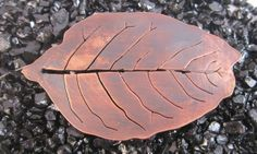Medium Copper Leaf Brooch - Hydrangea Leaf £15.00