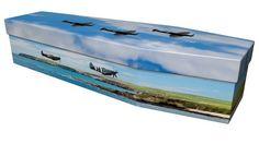 Spitfire design picture cardboard coffin #ecofuneral #picturecoffin #coffin #cardboardcoffin #ecoffins #eco