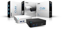 MSI CUBI: mini-PCs for multimedia featuring Intel Broadwell Processors