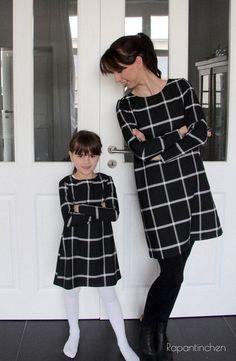 A-Linien-Kleid MISS LONDON mit Nähanleitung und Schnitt - Schnittmuster und Nähanleitungen bei Makerist