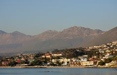 Gordons Bay and Sir Lowreys Pass as seen from the old harbour wall - #GordonsBay #CapeTown