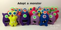 Adopt a monster party cute monsters monster theme Little Monster Party Favors party supplies Plush alien child friendly gift for kids