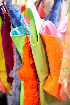 Pick your pop of color from @Isaac Mizrahi's rack of neon.