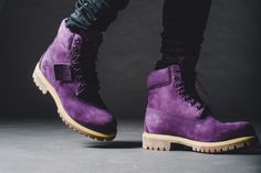 Villa x Timberland Purple Diamond Purple Diamond, Pink Diamonds, Purple Boots, Timberlands, All Things Purple, Outdoor Outfit, Shoe Game, Timberland Boots, Men's Shoes