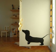 butinthemeantime.egorange6 wall stickers dog kids room