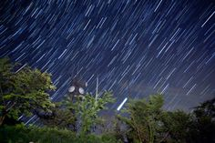 "An introduction to Shooting Star Trails by Trevor Williams. I will attempt to explain here how to capture stars over a long exposure so that they leave behind a ""trail"" or light stream. In fact, what are recorded are stationary stars and the rotation of the earth."