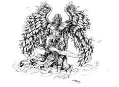 Warrior Archangel Drawings Archangel design by samurai30