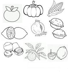 Meyveler Boyama Sayfaları Okul öncesi Etkinlik Kütüphanesi