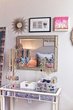 Cute girly vanity decor