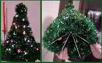 Coat hanger Christmas tree. I've actually made several of these and they all turned out precious.