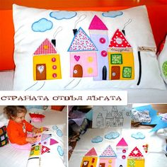 decorate a pillow, suggest different textures for baby/toddler to play with