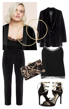 """""""Past the velvet rope"""" by naomi-mann on Polyvore featuring Madewell, Violeta by Mango, NYDJ, Etro, Melissa Odabash, Stuart Weitzman, Love Moschino and pantsuit"""
