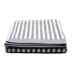 Marimekko, Ujo hand towel, grey/white