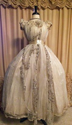 Gorgeous Parisian Silk Ball Gown