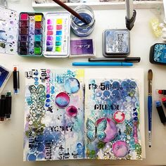 ---- Something just for yourself ? To relax, to let go and to simply enjoy some creative time ! ---- ✂️❤ #maremismallart #artjournal #mixedmedia #journallove #janedavenport #mixedmediaart #journaling #journalingeveryday #watercolour #watercolor #watercolorfun #art #creative #craftlife #createdaily #stencilart #artjournalpage #drawing #painting #watercolorjournal