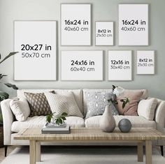 Picture Wall Living Room, Room Wall Decor, Living Room Decor, Living Room Gallery Wall, Living Room Canvas, Gallery Wall Layout, Gallery Walls, Modern Gallery Wall, Above Couch
