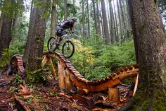 Mountain biking in North Vancouver, BC