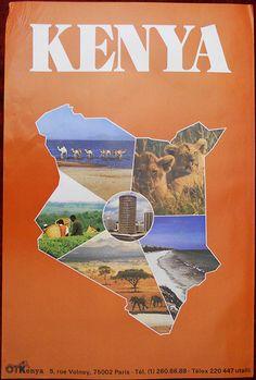 Kenya travel poster | eBay