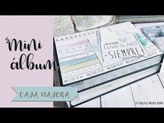 CAJA VIAJERA - estructura y diseño - YouTube Mini Scrapbook Albums, Snail Mail, Designers, Paper Crafts, Lettering, Diy, Mini Albums, Tutorials, Crates