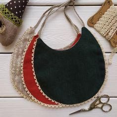 Linen Baby Bib Set Boho Vivid Сolored Cotton Bibs | Etsy | MaryLinen
