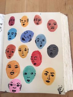 Ways to fill a sketchbook. I painted the heads with watercolor and used a sharpie to draw the faces. Ways to fill a sketchbook. I painted the heads with watercolor and used a sharpie to draw the faces. Art Journal Inspiration, Art Inspo, Posca Art, Arte Sketchbook, Sketchbook Ideas, Sketchbook Project, Aesthetic Art, Aesthetic Drawing, Easy Drawings