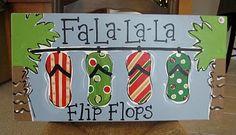 Christmas ᓀ-ᓂ ☼ Seaside Fa-La-La-La Flips Flops