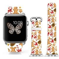 Iwatch Bands 38mm Christmas,Apple Watch Band Genuine Prime Elegant Leather Replacement For iWatch With Silver Metal Adapter - Christmas beautiful five-pointed star and snowman Directly use for any version iwatch - 38mm Top genuine leather,High print,Unique design pattern just for you Also wears comfortable and submissive Read more http://themarketplacespot.com/wearable-technology/iwatch-bands-38mm-christmas-apple-watch-band-genuine-prime-elegant-leather-replacement-for-iwa