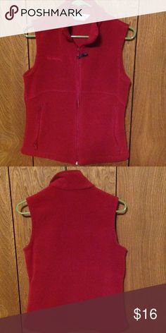 Columbia Vest Columbia Red vest jacket. 2 zip up pockets. Light piling. In good condition. No holes, tears or stains. Columbia Jackets & Coats Vests