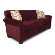 England Angie  Casual Rolled Arm Sofa With Accent Pillows Does this come in another color? I like the casual look, and especially the smoother, singular look to the back instead of dividing the back to match the three cushions...