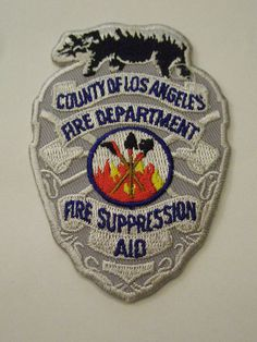Los Angeles County California Fire Dept Fire Suppression Aid Patch