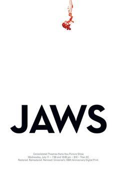 Jaws (1977) ~ Minimal Movie Poster by UnicornBreath #amusementphile