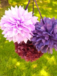 How to make tissue paper pom-poms from canadianliving.com