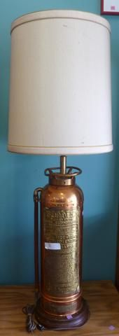 Antique Fire Extinguisher made into a Lamp!