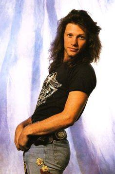 Jon Bon Jovi  in the 80's!!