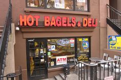Montague Street Bagels, open 24 hours, can order online and have delivered, possible New Years food