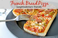 Lightened Up French Bread Pizza
