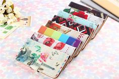 For Samsung Galaxy S5 i9600 Phone bags Leather embossed painting Stand Wallet Coque Fundas cover Retro