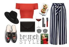 """""""Brunch chic style"""" by sandriner on Polyvore featuring mode, Monsoon, Alice + Olivia, Gucci, Valextra, Nordstrom, Ray-Ban, Lancôme et Lack of Color"""