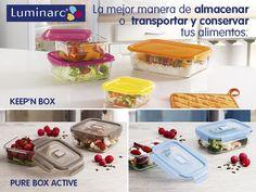 Llegan los nuevos recipientes de vidrio de #Luminarc  ¿Cuál os gusta más?  #Keep'nBox #PureBoxActive