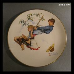 10 1/2 inches NORMAN ROCKWELL Collectors Plate by GORHAM 1972 - Summer -Flying H