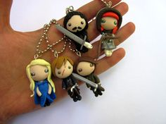 Game of Thrones pendants polymer clay handmade by Sfiziboom