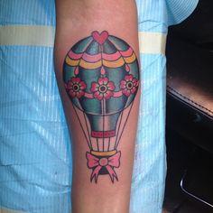Hot air balloon tattoo by me at full circle tattoo