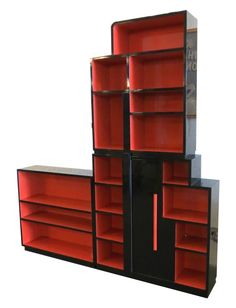 American Art Deco Skyscraper Bookcase by Modernage, New York