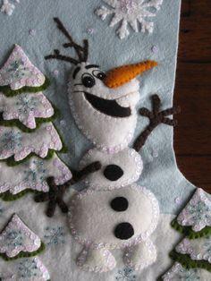 Olaf congelado 18 terminado por MissingSockStitchery en Etsy
