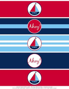 Free Printables: Nautical Party Printables