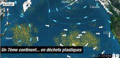 Dans l'océan, les déchets forment des plaques de la  taille d'un continent... #plasticvortex