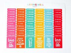 Living Well Planner™ Sticker Set