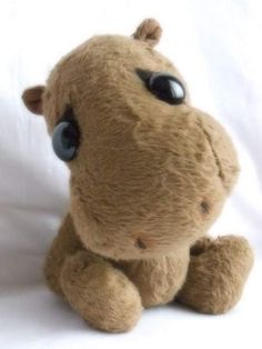 Hippo order yours By Sylvie Touzard -  This hippo is made for order, is made in a caramel viscose, he's got big black glass eyes, and he's got a very good weight for a nice pick me up feel!!!! He's 20 cm. Place your order, and I'll contact you quickly. Bear hugs Sylvie