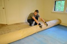 Removing an old carpet and prepping for hardwoods