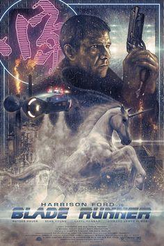 Blade Runner: O Caçador de Andróides, Um clássico da Ficção-científica de Ridley Scott com Harrison Ford. No século 21, uma corporação desenvolve clones humanos para serem usados como escravos em colônias fora da Terra, identificados como replicantes. Em 2019, um ex-policial é acionado para caçar um grupo fugitivo vivendo disfarçado em Los Angeles.
